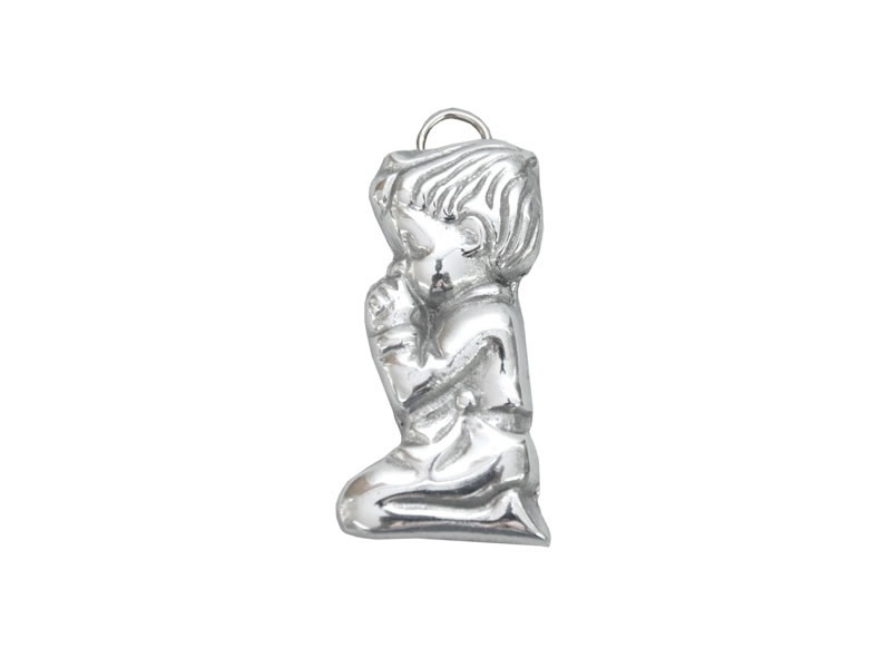small kneeling boy with holder