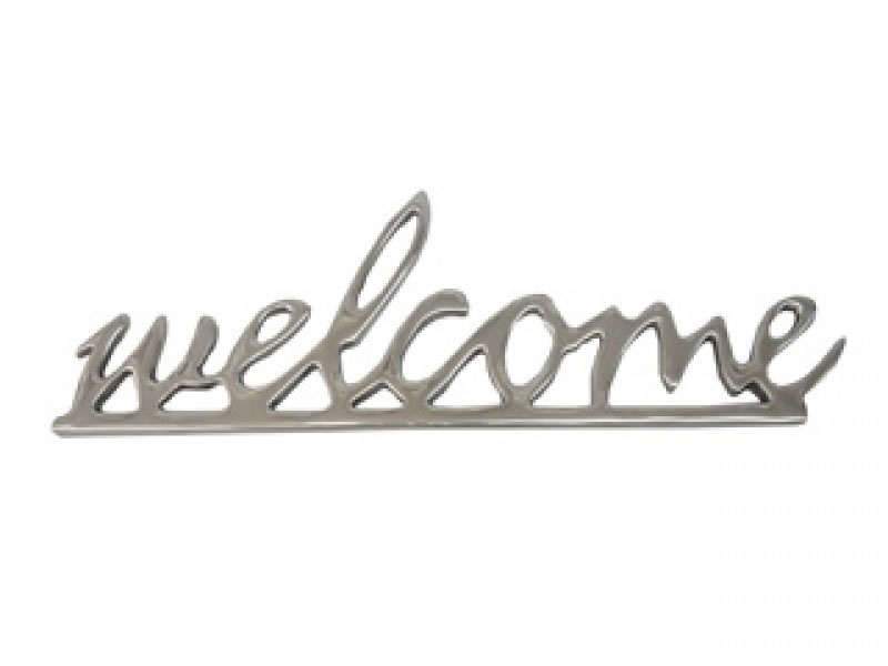 large welcome ornament with hanger