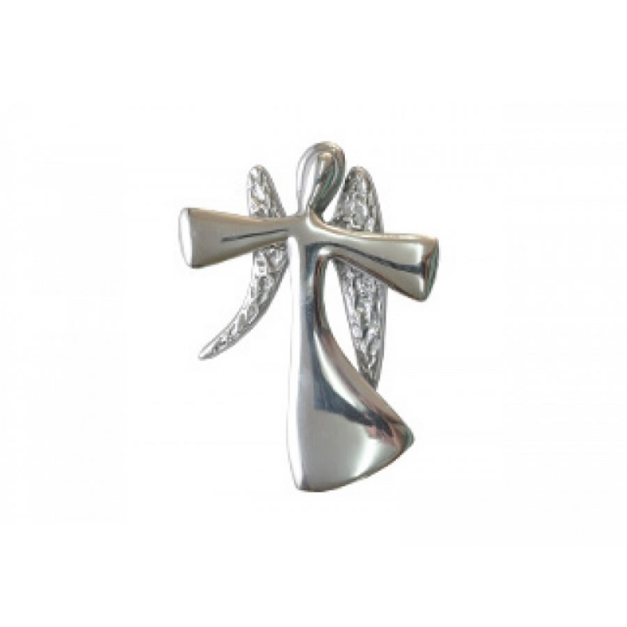 small smooth curved angel with wings