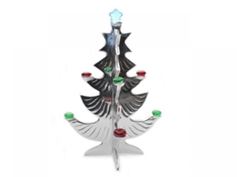 medium 2 piece arbolito ornament with gems