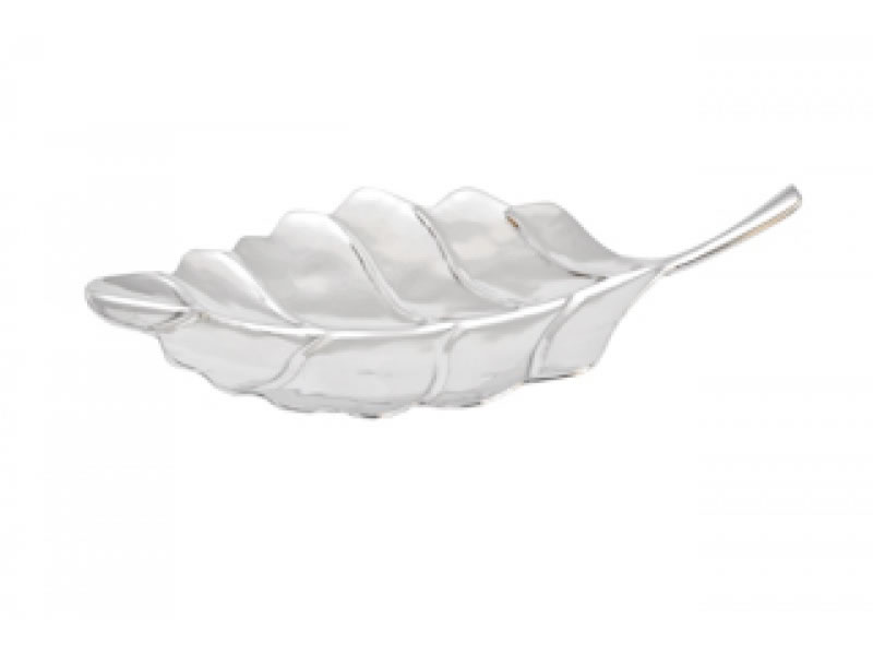 large flat hoja snack tray