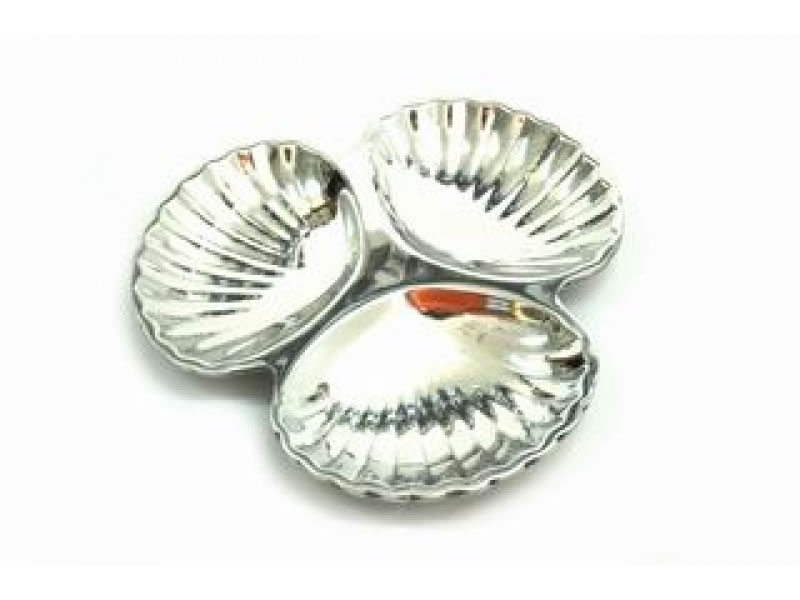 medium marino 3 conchas snack tray
