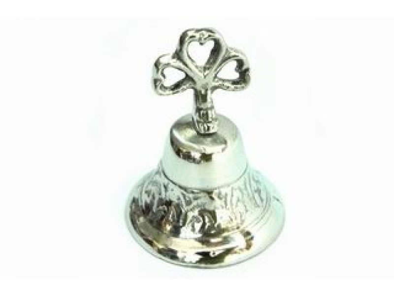 medium scroll greca bell with ribbon