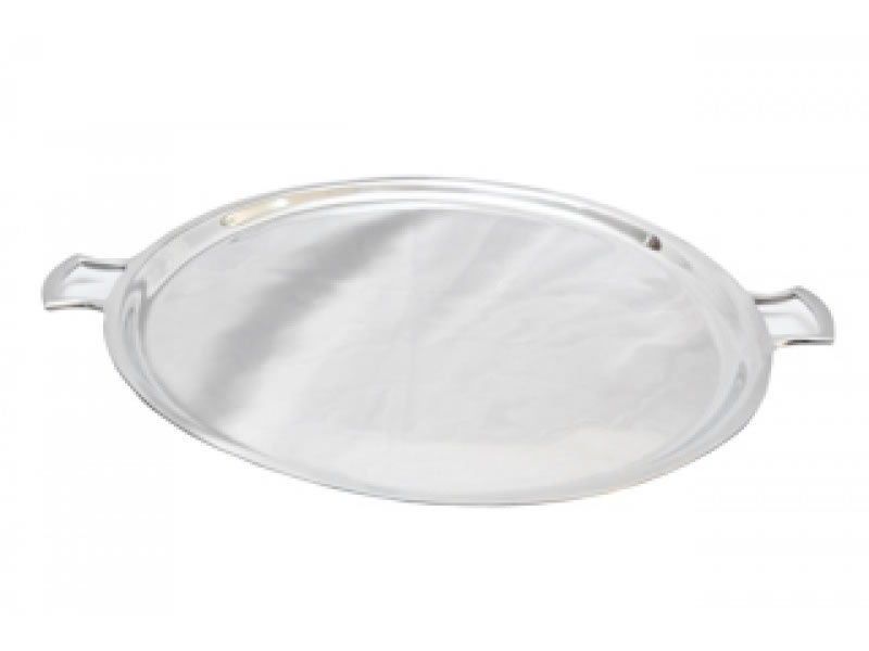 large round boston tray with handles