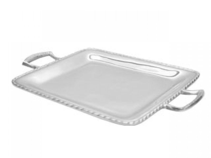 medium square colima tray with handles