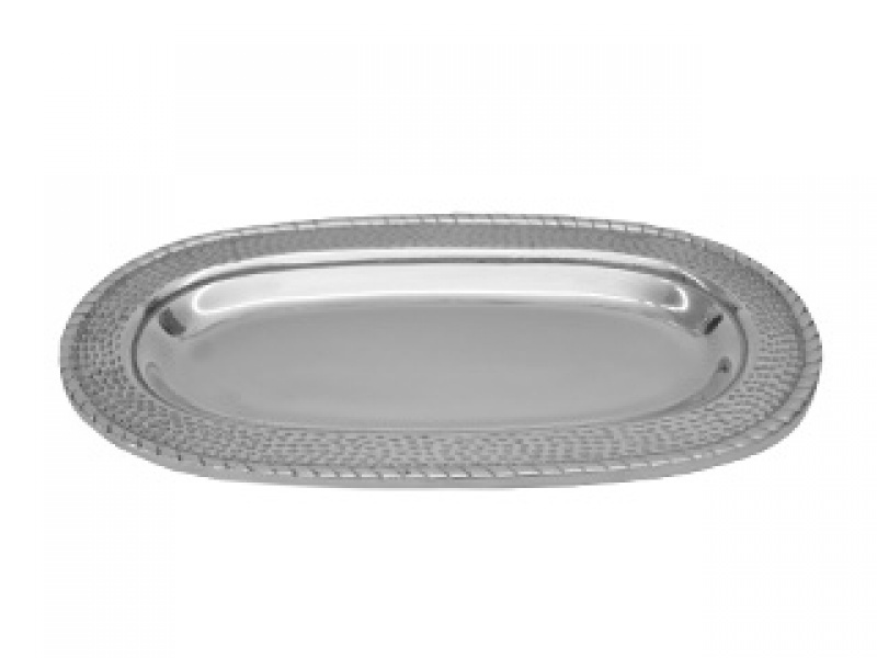 small oval hammered picada tray