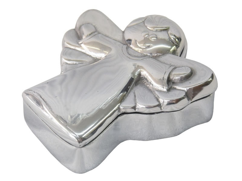 medium smooth angel jewelry box
