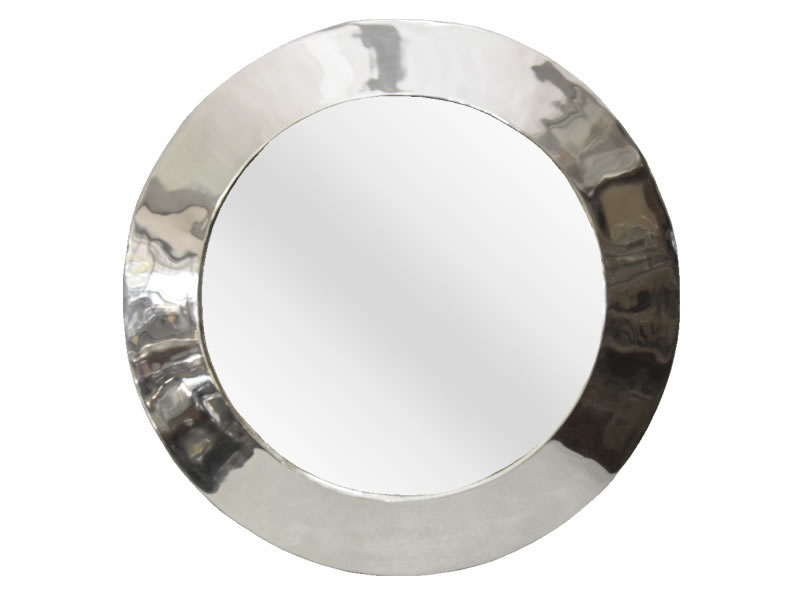 giant smooth round mirror