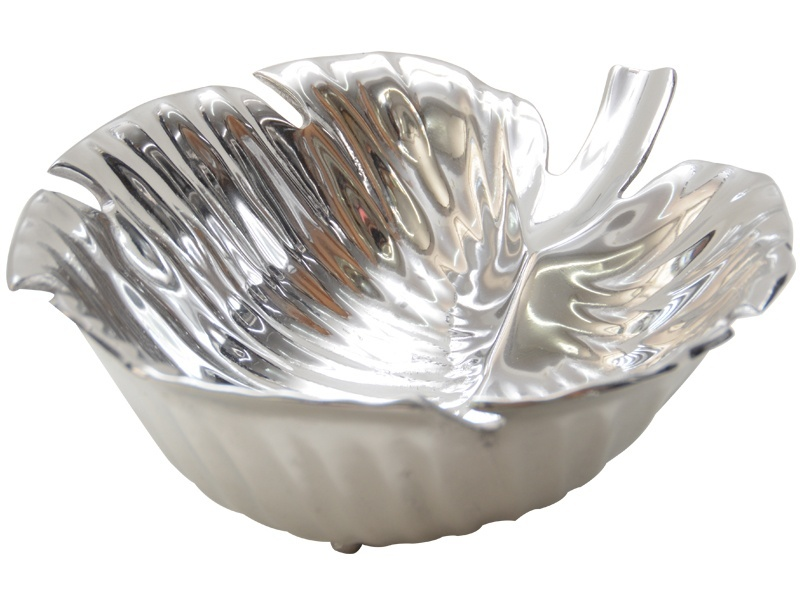 medium round ribbed leaf queretro salad bowl