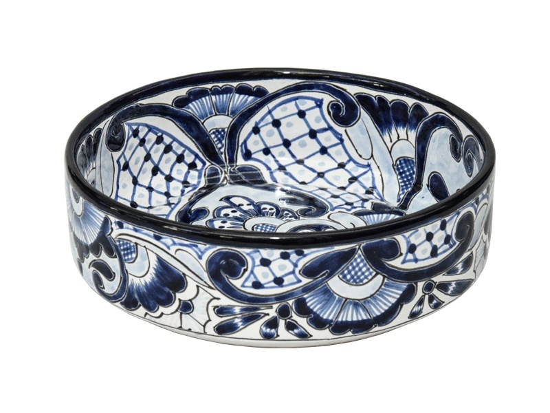medium hidalgo talavera salad bowl