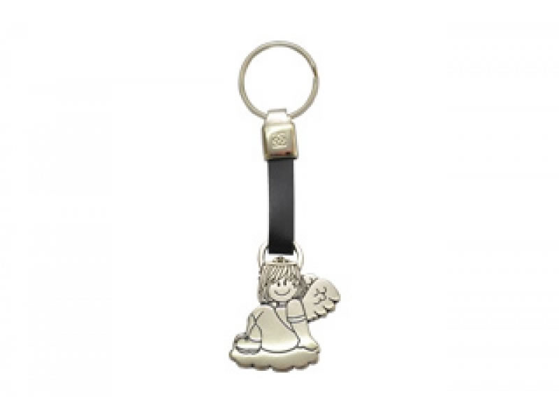 small angelita leather key chain