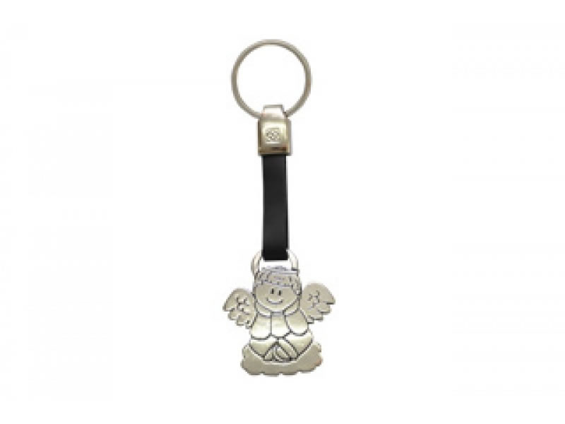 small angelito leather key chain