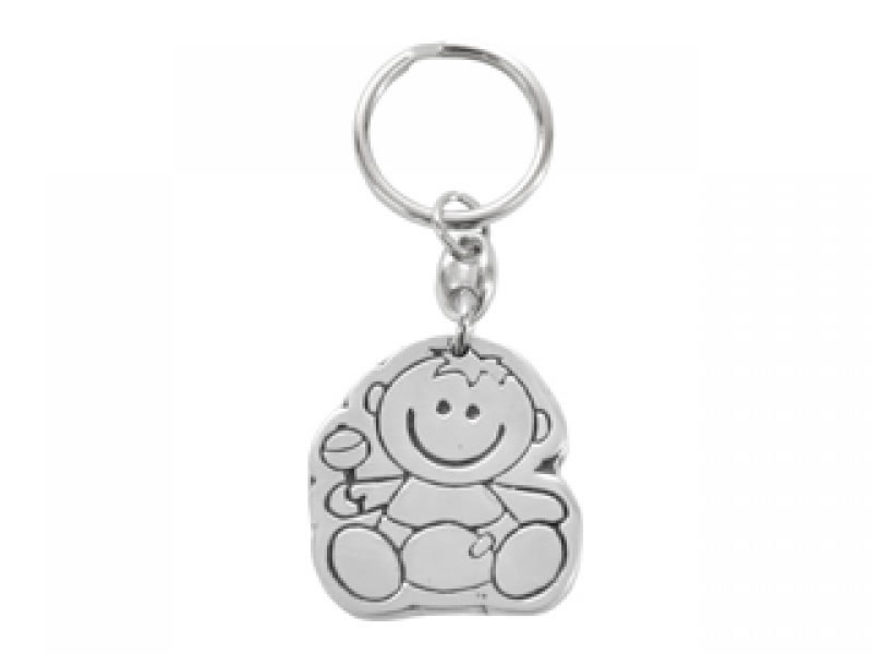 small bebe con sonaja key chain