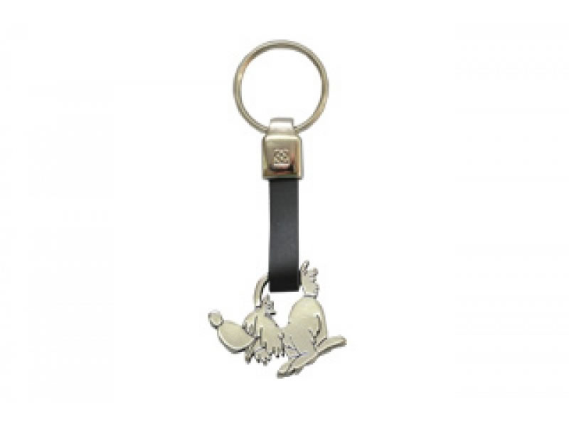 small perro leather key chain