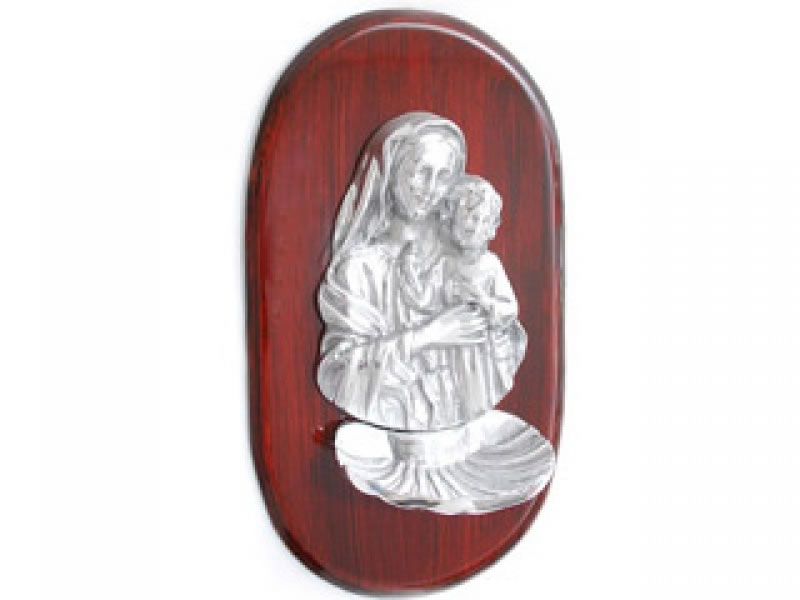 medium madonna with child on polyester wood