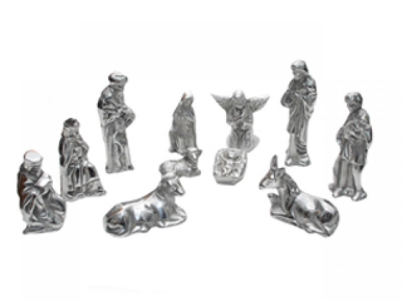 medium 9 piece antiguo nativity scene
