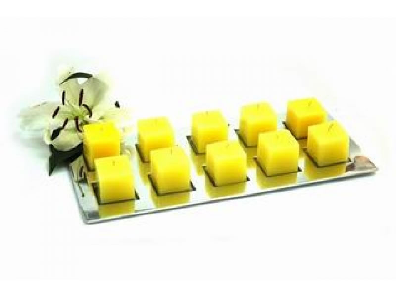 large rectangular placa candle holder for 10 candles