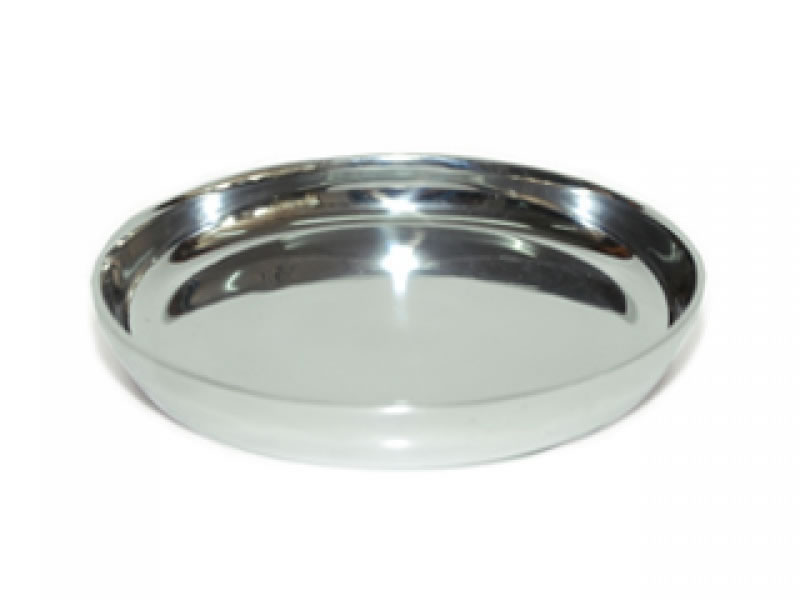 large smooth round liso candle holder