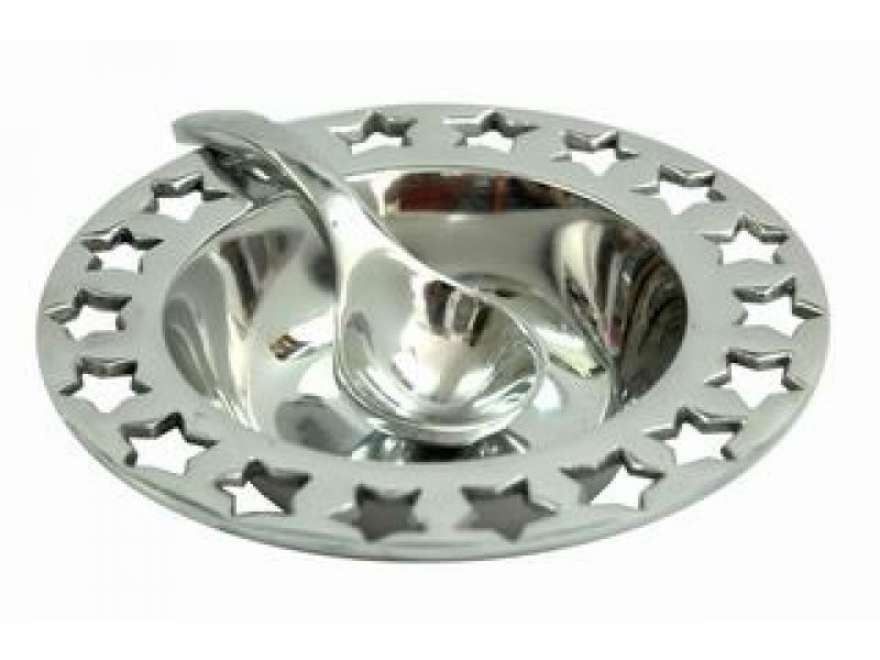 small fretwork estrella sauce bowl without spoon