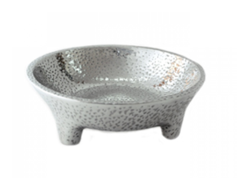 large hammered molcajete sauce bowl