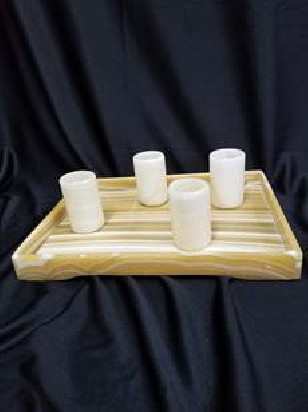 marble tray with shot glasses