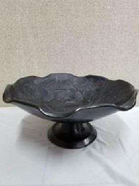 fruit tray with base in barro negro (black clay)