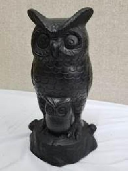 owl in barro negro (black clay)