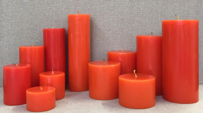 scented round orange candle