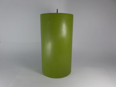 scented round green candle