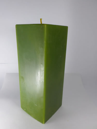 scented square green candle
