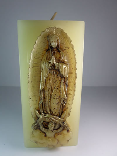 virgin of guadalupe candle