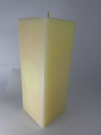scented square beige candle