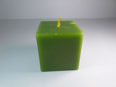 scented square green apple candle
