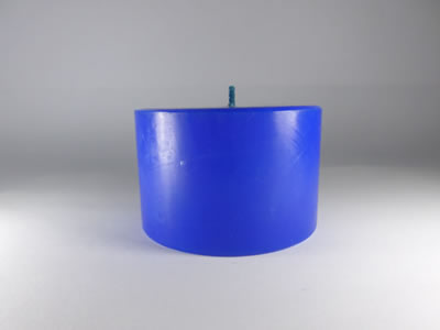 scented round blue candle