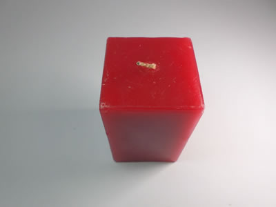 scented square red candle