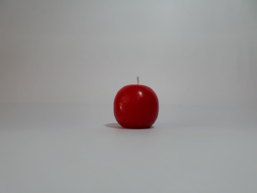 small sphere red candle